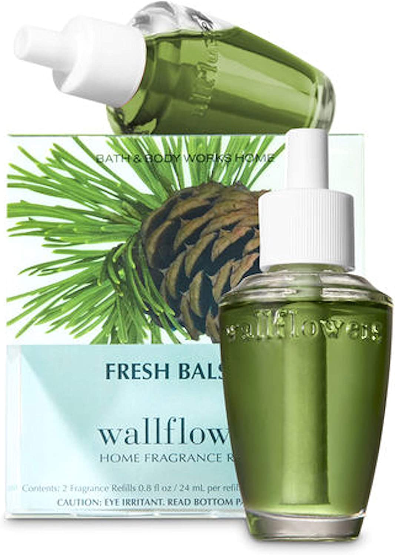 Bath & Body Works Slatkin & Co. Wallfowers Home Fragrance Refills - 2 Refill Bulbs - Fresh Balsam