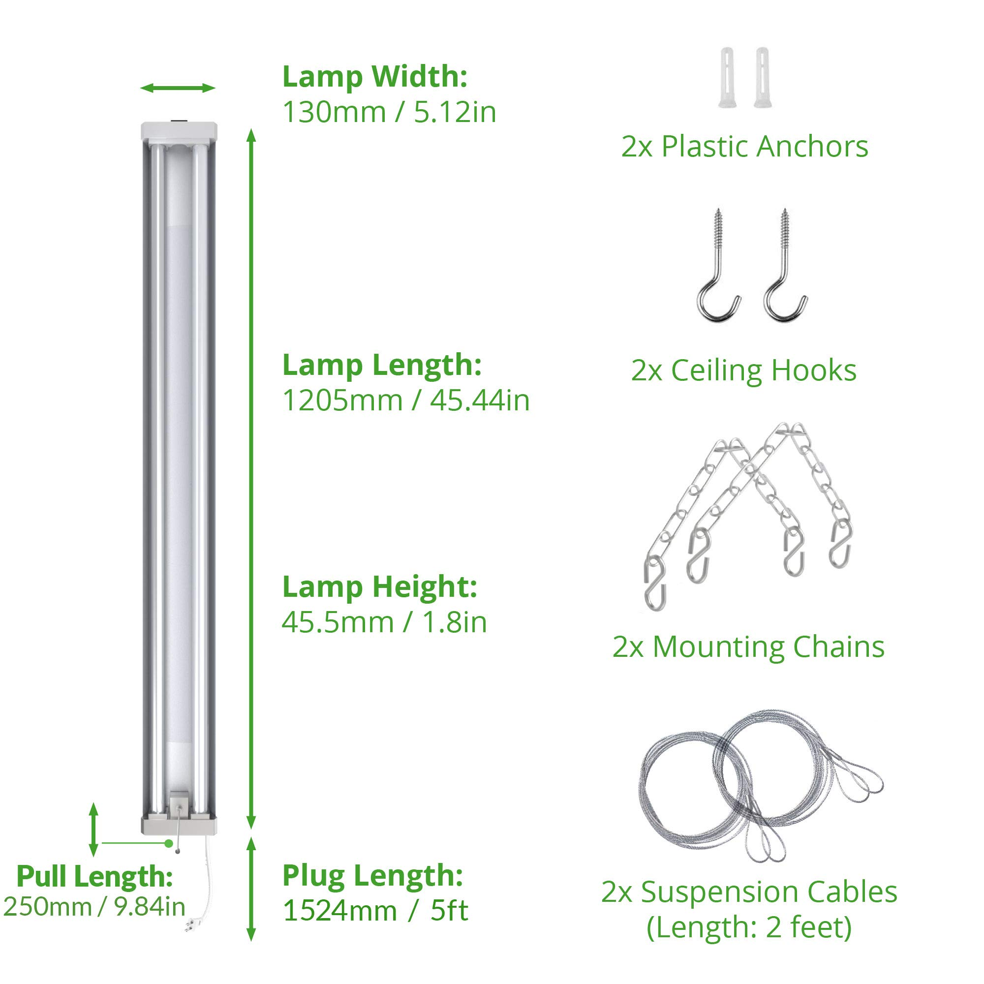 Sunco Lighting 4 Pack 4ft 48 inch LED Utility Shop Light 40W (260W Equivalent) 5000K Kelvin Daylight, 4000 Lumens, Double Integrated Linkable Garage Ceiling Fixture, Frosted - Energy Star/ETL Listed by Sunco Lighting (Image #7)
