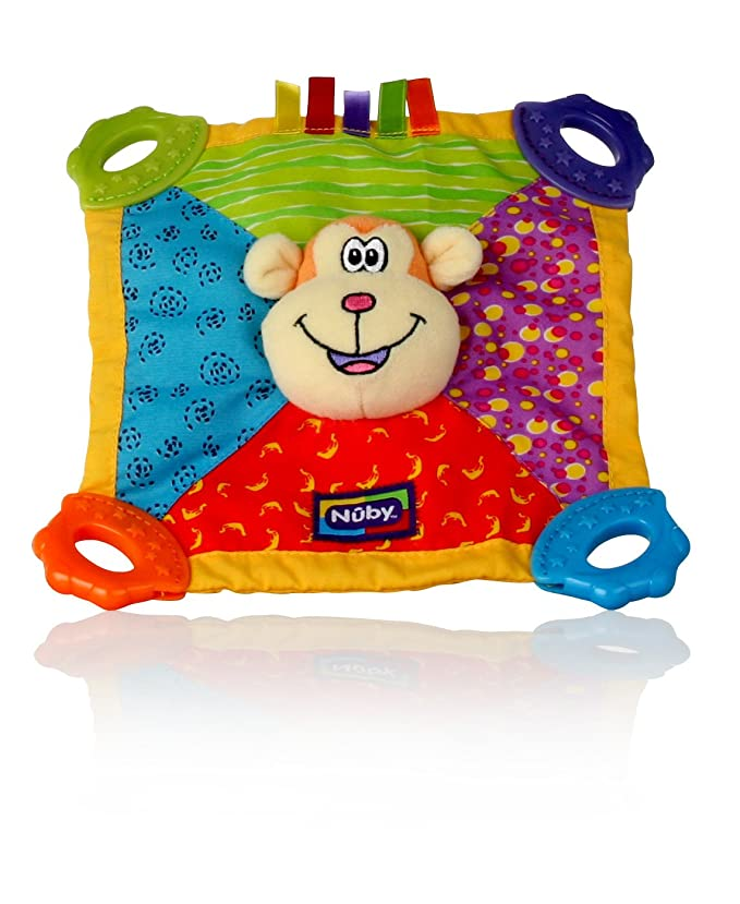 Nuby 6568 Teething Plush Blankie™ Bear 0m+