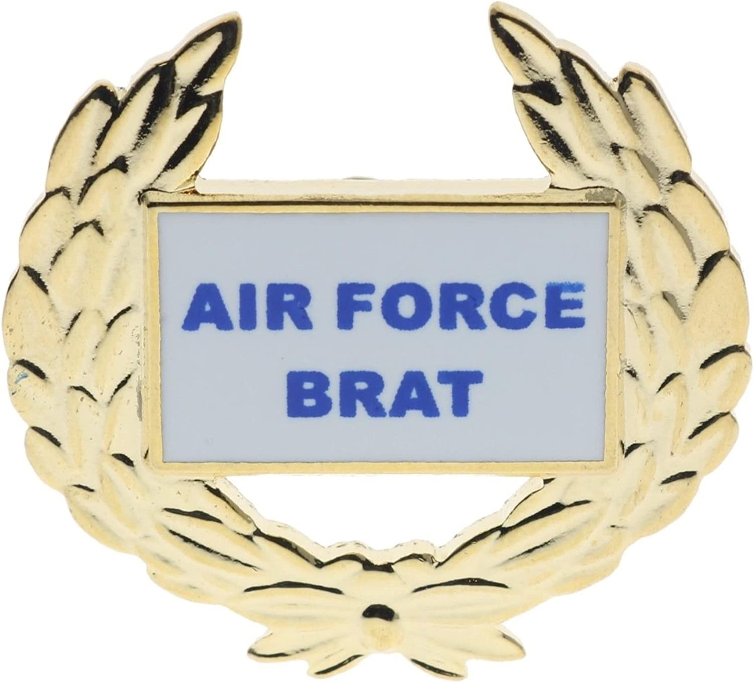 USAF Air Force Brat Wreath 1 1//8 inch pin Gold Tone color H14496D143