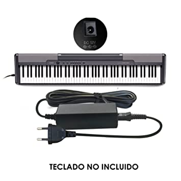 ABC Products® Reemplazo del cable de Casio DC 12V / 12V Adaptador Adaptador Fuente de alimentación ...