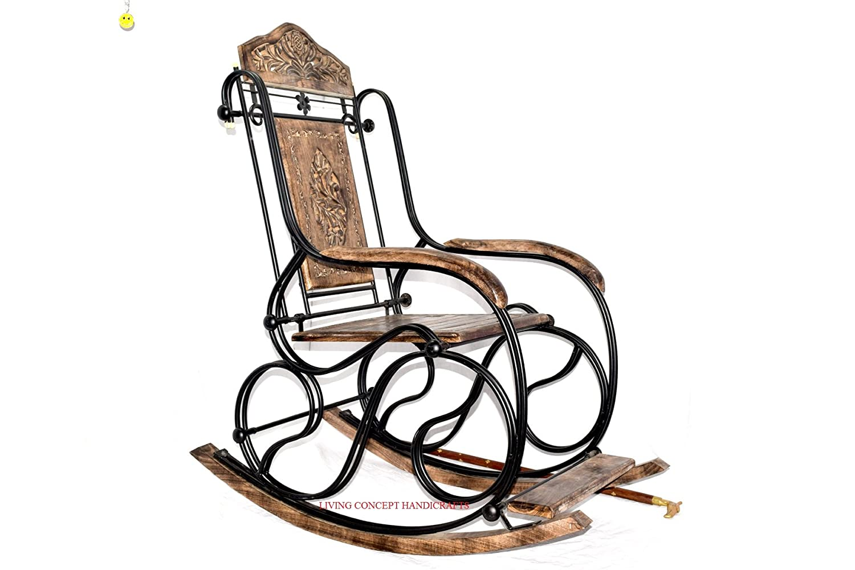 Sensational Living Concept Handicrafts Rocking Chair Iron And Mango Wood Camellatalisay Diy Chair Ideas Camellatalisaycom