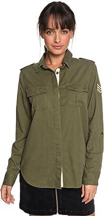 Roxy Military Influence - Camisa de Manga Larga para Mujer ERJWT03241: Amazon.es: Ropa y accesorios