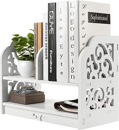 Color : Wood Color, Size : 352235cm Bookshelf Book Racks Wooden Desktop Desktop Storage Rack Wooden Office Cabinet Wooden Desk Shelf Office Supplies Rain Wooden A4 Bookends /& Book Racks
