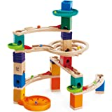Hape Quadrilla Cliffhanger Wooden Marble Run Blocks | Marble Maze Run Set, Early Educational STEM Development Building Toys F