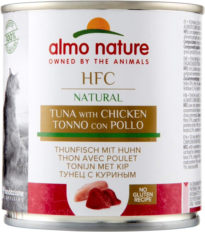 Almo Nature Classic, Atún con Pollo para Gatos, Pack de 12 x 280 g