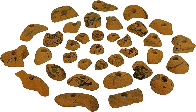 ALPIDEX 35 Kinder Klettergriffe Klettersteine ergonomisch geformt f/ür eine Kletterfl/äche von ca 3 bis 5 m/²