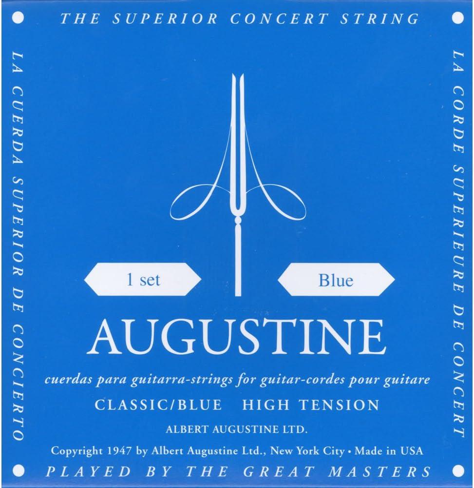Augustine Cuerdas para Guitarra Clásica, Azul, Tensión Alto