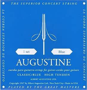 Augustine Cuerdas para Guitarra Clásica, Azul, Tensión Alto ...
