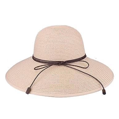 prix de gros prix réduit matériaux de haute qualité Chapeau floppy été plage soleil chapeaux de paille anti-UV protection  chapeau Voyage Packable UPF 50+ pliable large bord Chapeau Voyage Capable  Cap ...