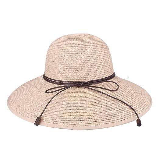 Sun Hat UPF 50+ Beach Straw Hat Foldable Beach Caps for Women Girls (9208 5e2c8a74da77