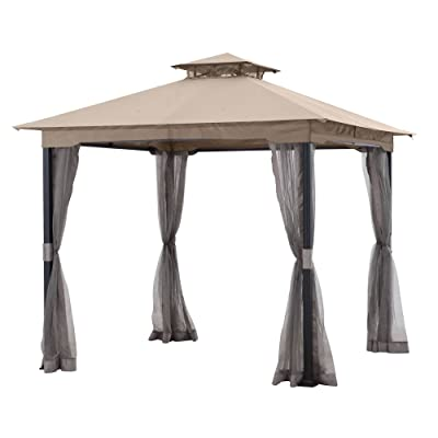 Garden Winds Replacement Canopy Top Cover for the Westerly 8x8 Gazebo - RipLock 350: Garden & Outdoor