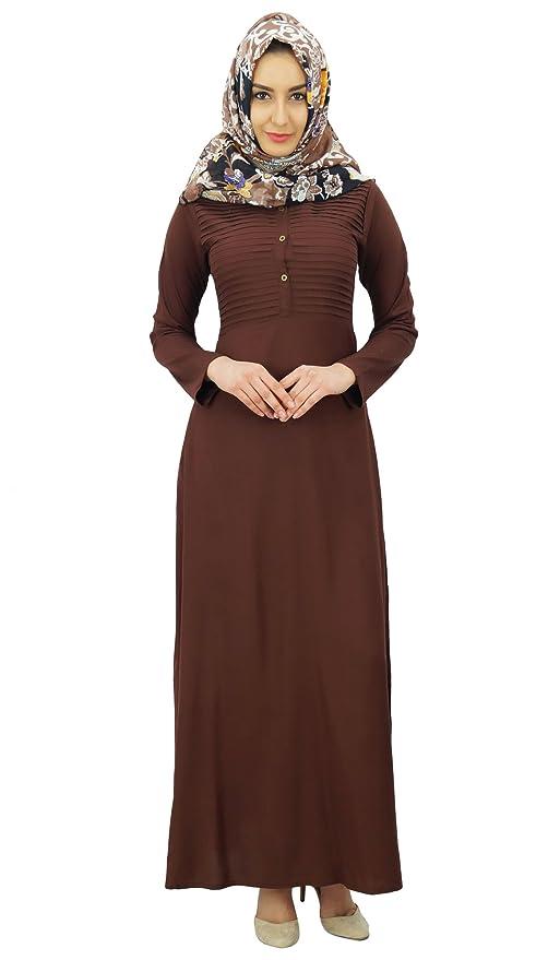 627a400835ebd Bimba abaya féminin plissé robe longue jilbab islamic avec foulard imprimé  hijab: Amazon.fr: Vêtements et accessoires