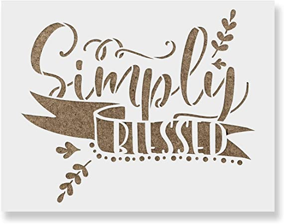 12x9 reusable stencil NOT A SIGN Simply Blessed STENCIL