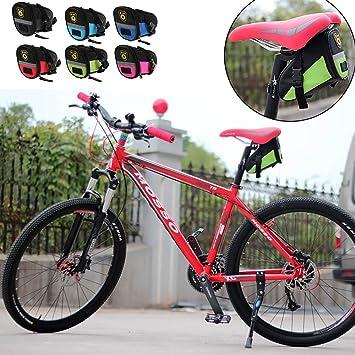 6dca8e3685 自転車サドルバッグ ?MTBロードバイク防水 シートパッケージ ポーチ尾リアパニエブラック