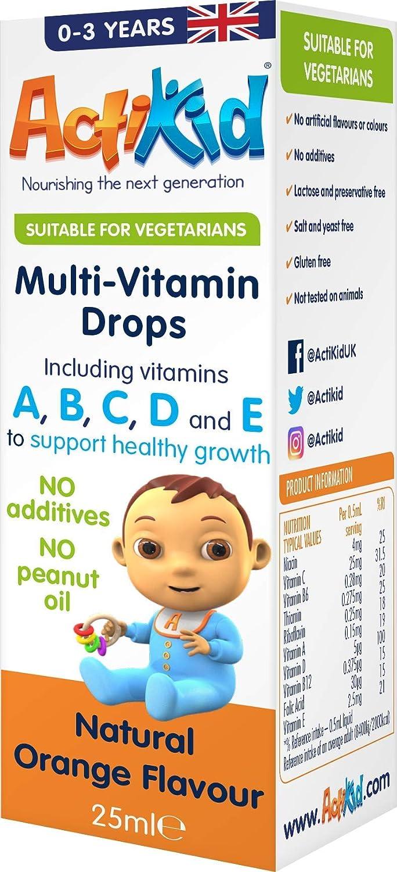 ActiKid Multi-Vitamin Drops 25ml, Fortalecimiento del sistema inmunológico
