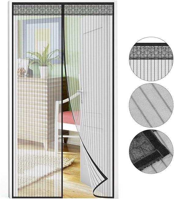 Puerta mosquitera 210 x 90 cm, protección contra insectos ...