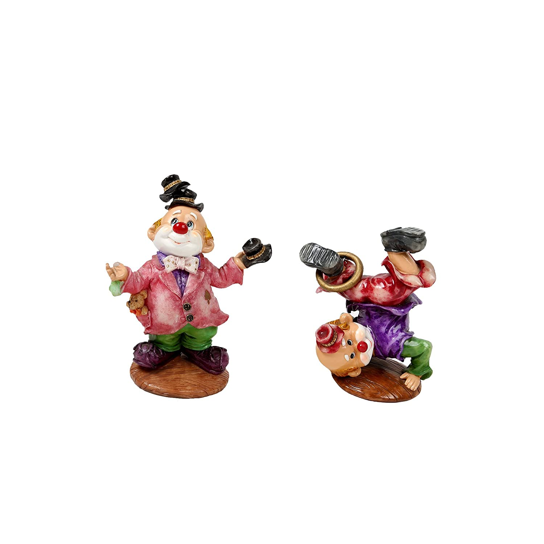 CTG, Porcelain Poly Clown Figurine Set, 16 Styles, 4.5 inches, Multicolor