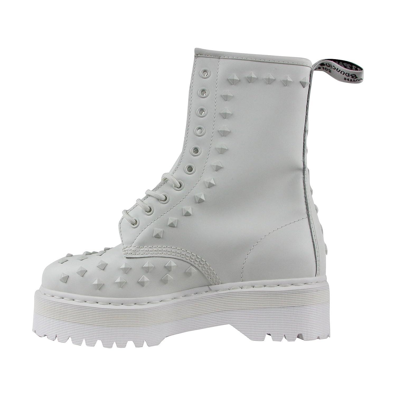 Dr. Martens 10 Unisex-Adult 1490 Stud 10 Eye Boot B071GFTRR8 10 Martens M UK|White Smooth c22b5f