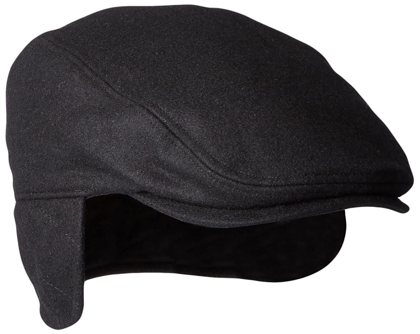 fb3df884ee6dc Dockers Men s Solid Melton Hat with Fold-Down Ear Flaps