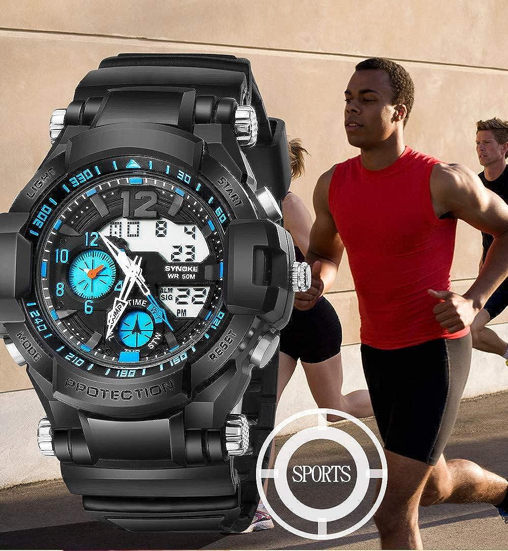 Rcool Relojes suizos relojes de lujo Relojes de pulsera Relojes para mujer Relojes para hombre Relojes deportivos,Reloj de acción doble LED digital ...