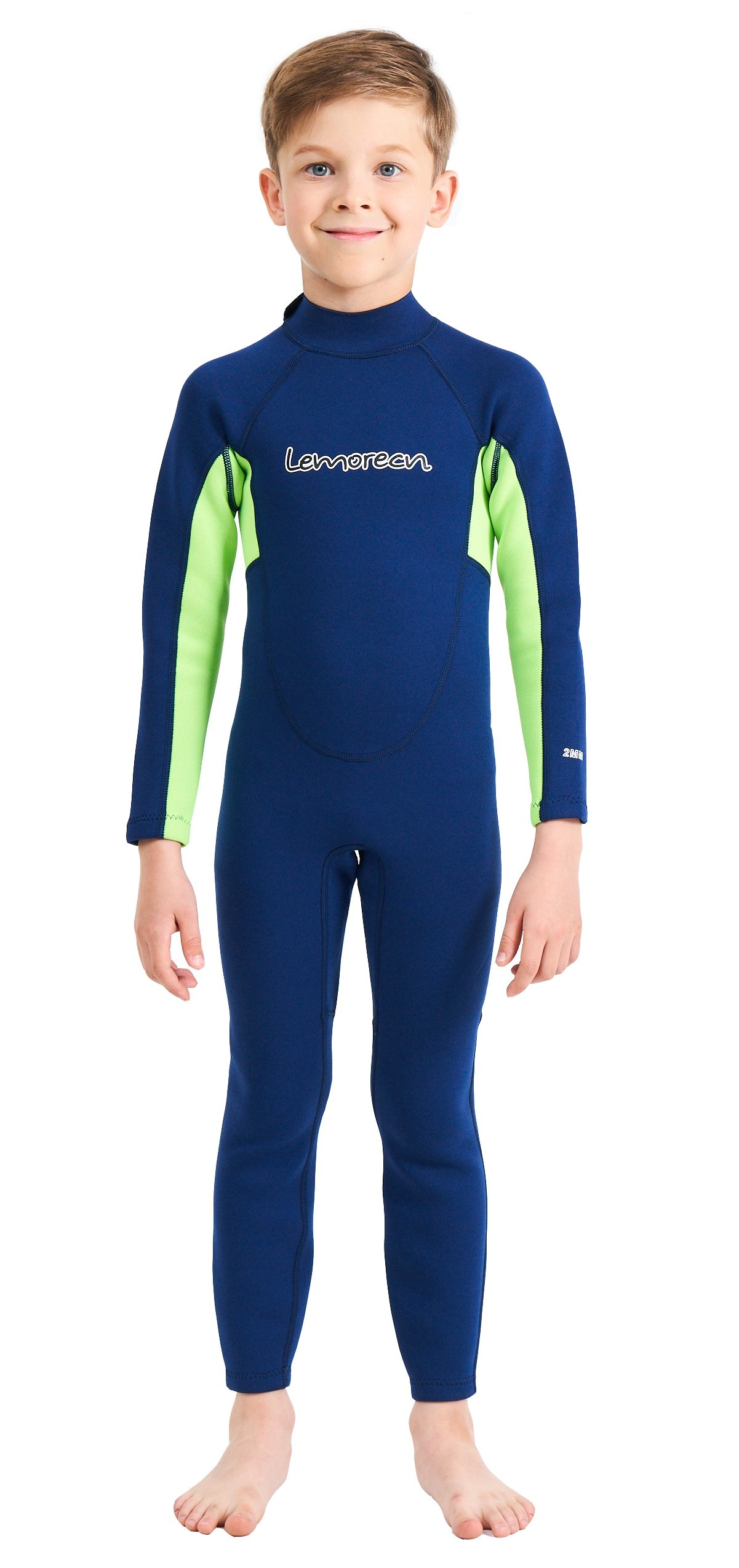 Lemorecn Wetsuits Youth 2 mm Full Diving Suit(4032navygreen-4)