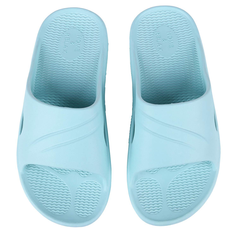 Womens Shower Sandal Pool Slides Open Toe House Slippers Lightweight Bath Slippers Shower Shoes