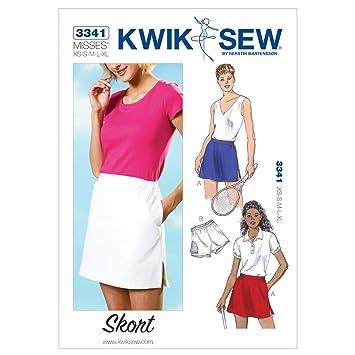 KwikSew Schnittmuster 3341 Skort Gr. XS-XL: Amazon.de: Küche & Haushalt