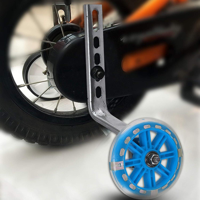 "LED Light Training Wheels Kids Bike Bicycle Stabiliser Fits 12/"" to 20/"" Pink"