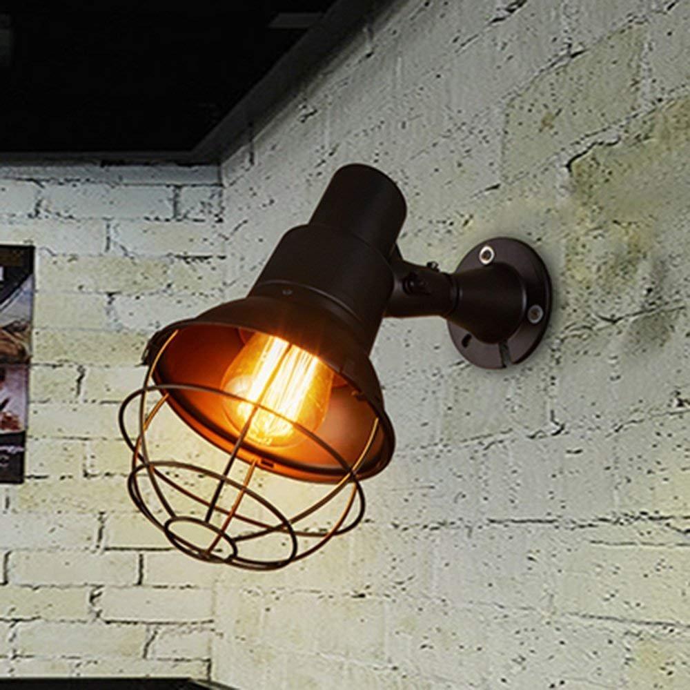 HYW Wandlampe-amerikanischen Retro-Loft industriellen Eisen Wandleuchte Gang Treppe Korridor kreative Restaurant Wandleuchte - Wand Beleuchtung Dekorationen