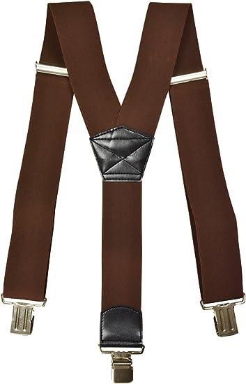 Herren Hosenträger 3er Clip 4 cm Breite Metallclip elastisch verstellbar Y-Form