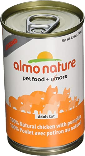 Almo 4.94 Oz Legend Chicken Pumpkin Canned Cat Food 24 Case