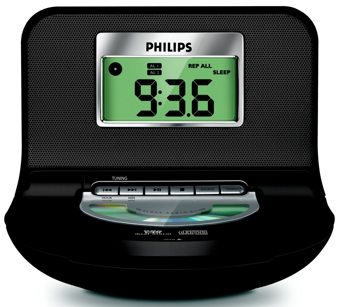 Amazon.com: Fm CD-r/rw Clock Radio- Buzzer Alarm-bass Reflex ...