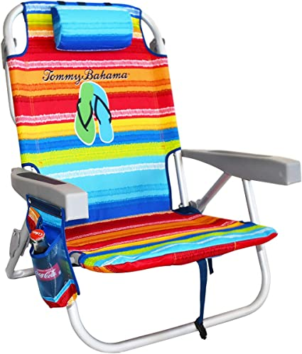 The Tommy Bahama Back Pack Beach Chair Folding Backpack Deck Chair Flip Flop Amazon Co Uk Kitchen Home