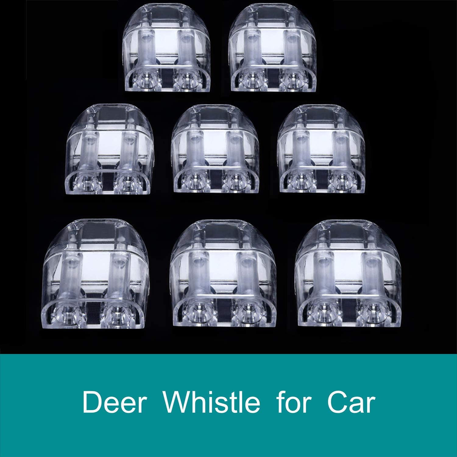 Clear CITKOU 8Pcs Deer Whistles for Car Dual Construction