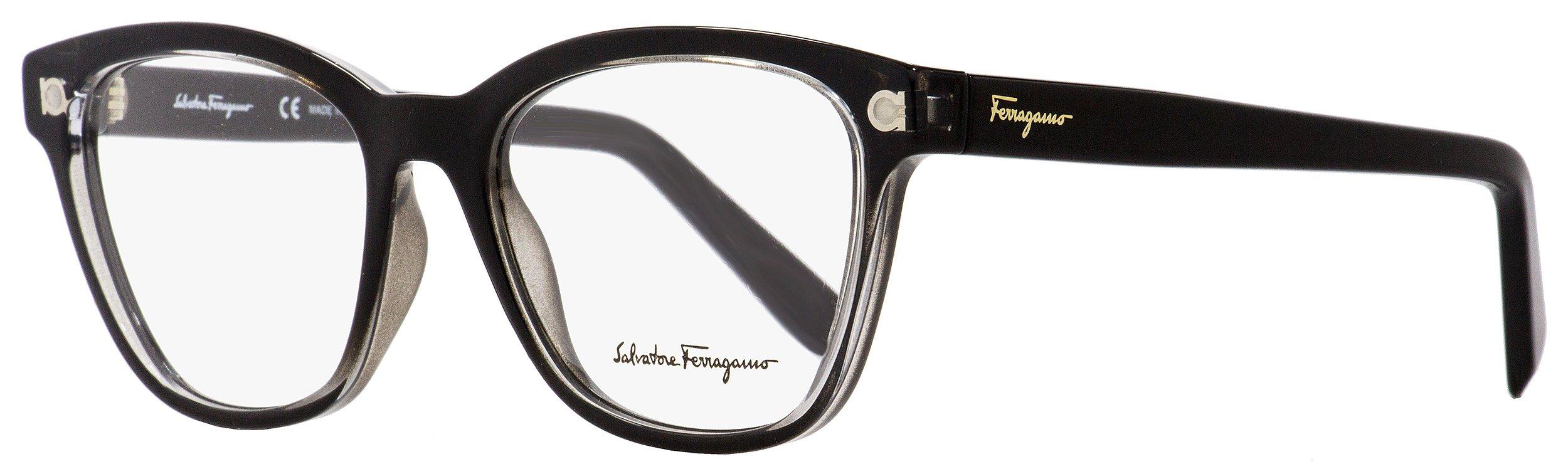 Salvatore Ferragamo Cateye Eyeglasses SF2766 001 Shiny Black/Clear 53mm 2766 by Salvatore Ferragamo