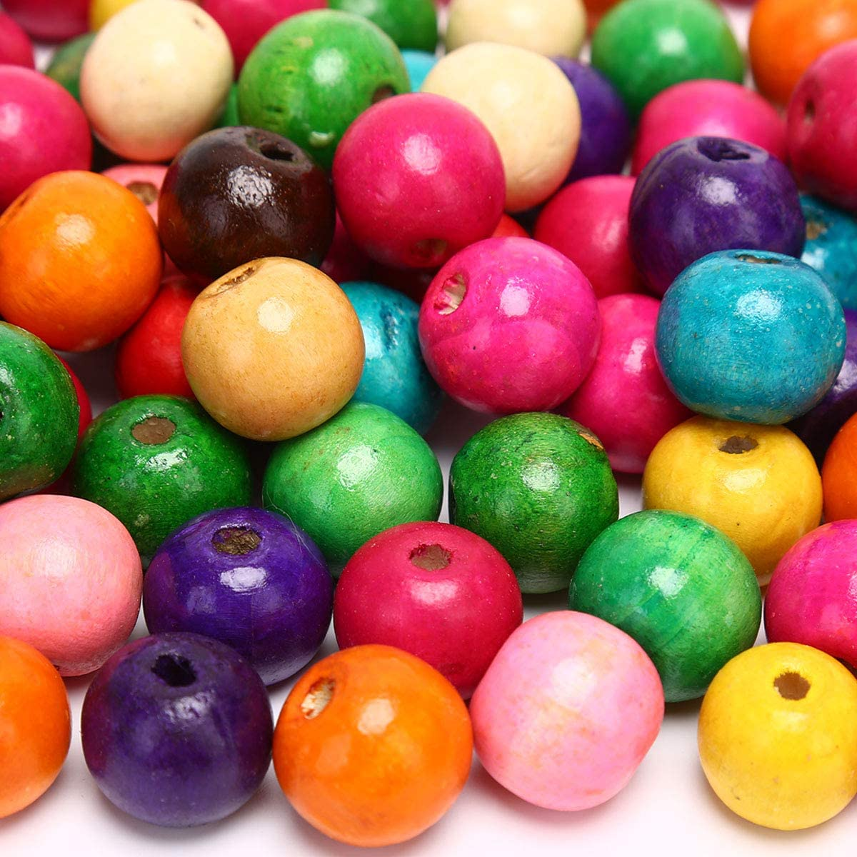 Choose your color BULK 20mm Colored Round Wood Beads 200 pieces