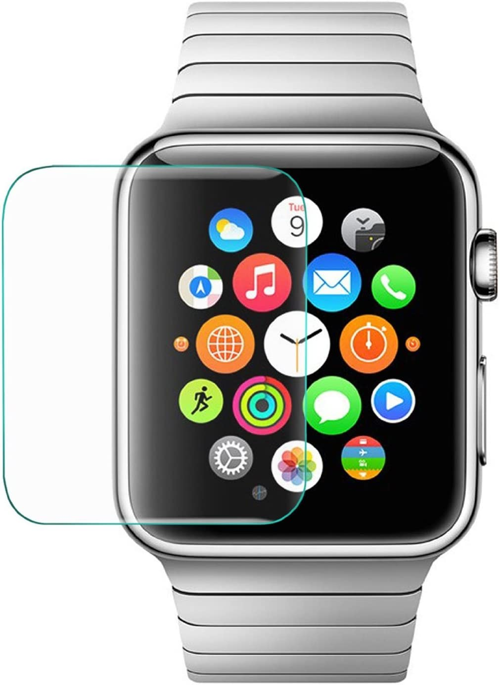 Tempered Glass Screen Protector for Apple Watch, Watch Sport, Watch Edition (38MM)