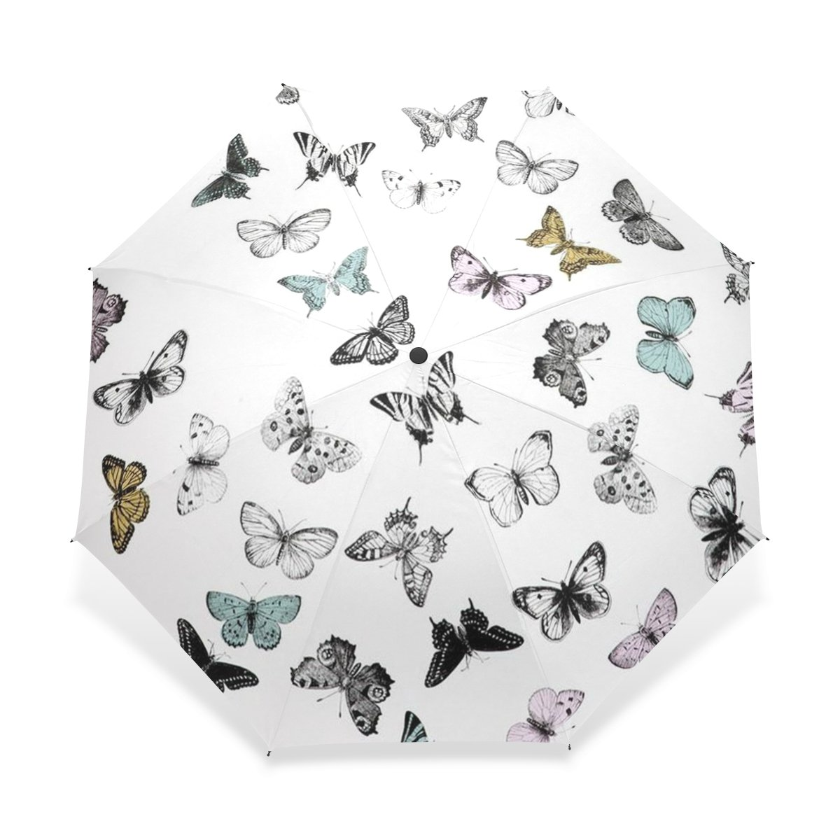 56ac75daa9ae Amazon.com: BAIHUISHOP Windproof Strong Frame Unbreakable Butterfly ...