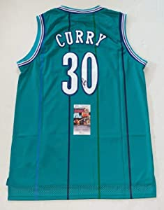 Dell Curry signed Charlotte Hornets jersey autographed 2 JSA - Autographed NBA Jerseys