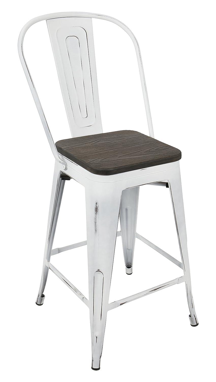 Sensational Amazon Com Woybr Steel Bamboo Oregon High Back Counter Short Links Chair Design For Home Short Linksinfo