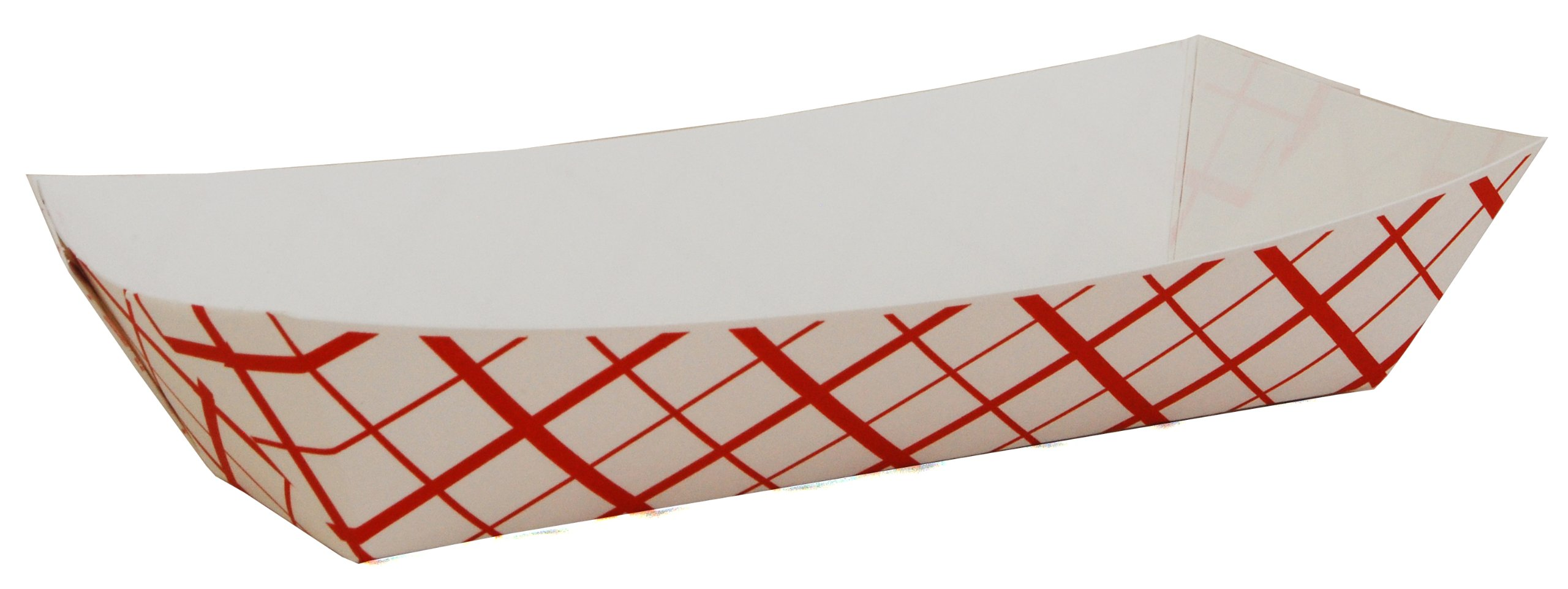 Southern Champion Tray 07091 Paperboard Red Check Hot Dog Tray, 7'' Length x 2-3/4'' Width x 1-1/2'' Height (Case of 1000)