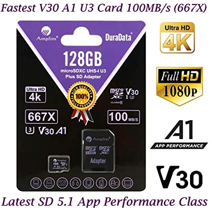 Amazon.com: 64 GB 128 GB Micro SD SDXC V30 A1 tarjeta de ...