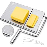 PL ZMPWLQ Cheese Slicer, Stainless Steel Cheese Cutters with Accurate Size Scale, Wire Cheese Slicer for Cheese Butter, Equip