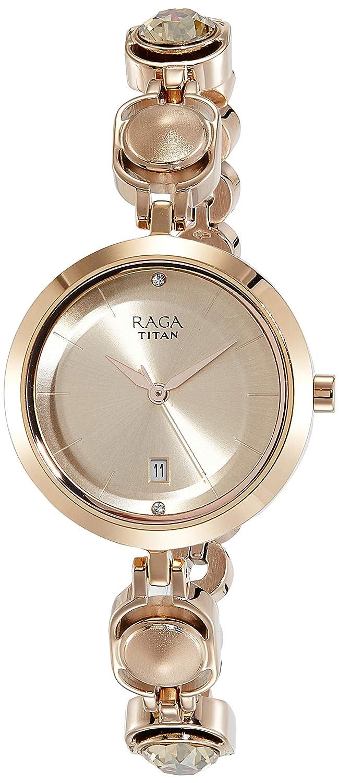 293629501d6 Buy Titan Raga Viva Analog Rose Gold Dial Women s Watch - 2606WM02 Online  at Low Prices in India - Amazon.in
