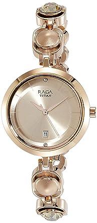 Titan Raga Viva Analog Rose Gold Dial Women S Watch 2606wm02