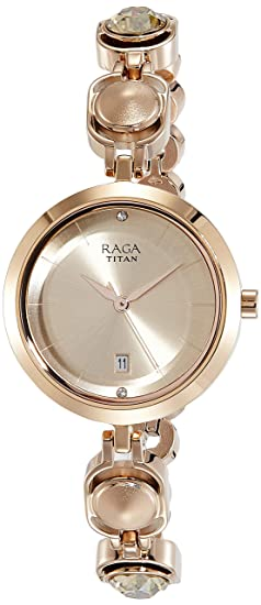 db916e1214c Image Unavailable. Image not available for. Colour  Titan Raga Viva Analog  Rose Gold Dial Women s Watch ...