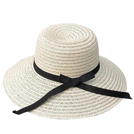 Di Paglia Pieghevole Ikulilky Cappello Sole Donna Moda 0wOnPk8