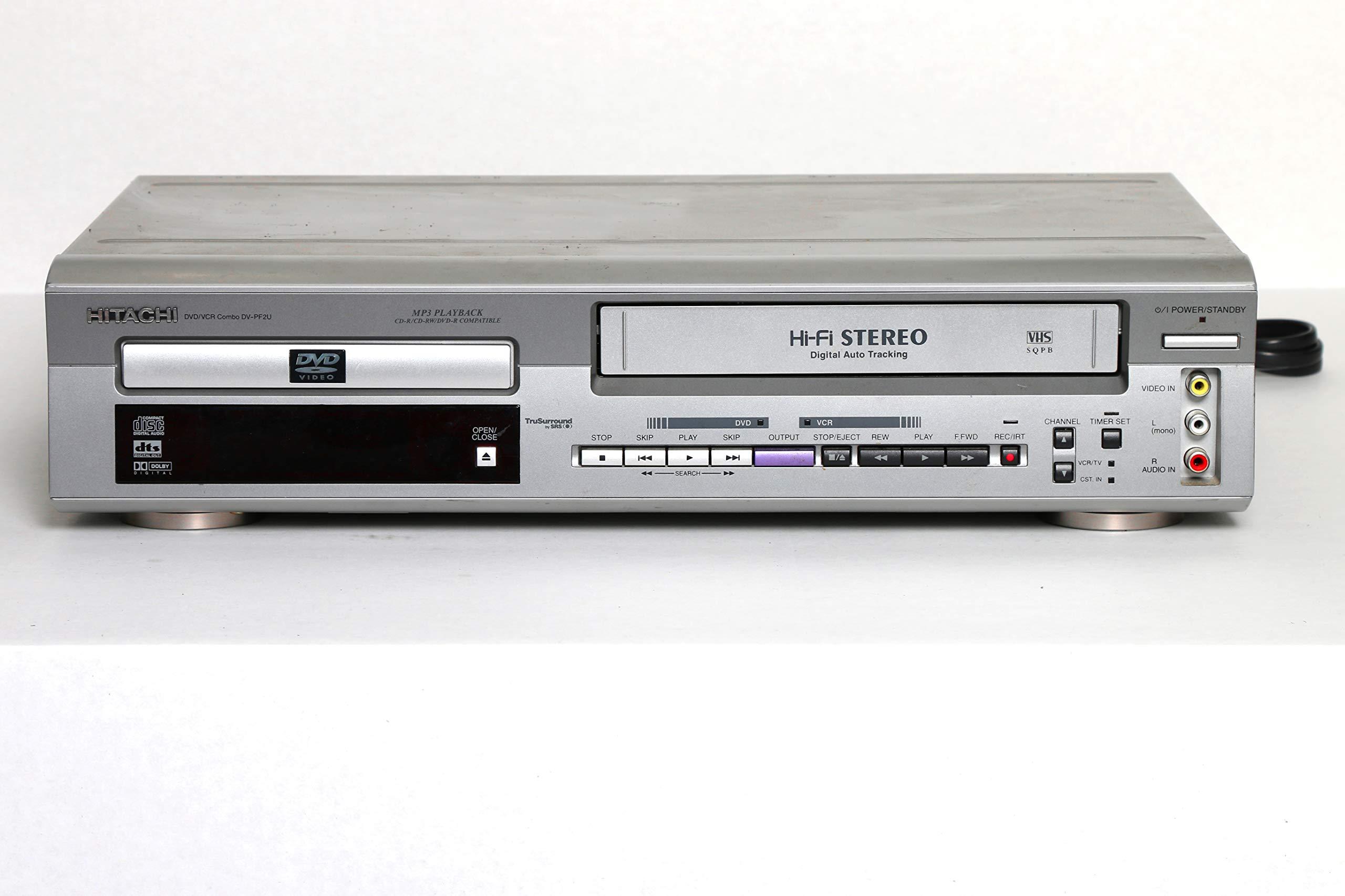 Hitachi DV-PF2U DVD/VCR Combo DVD Player Video Cassette Recorder Player VCR w/ Hi Fi Stereo & Mp3 Playback