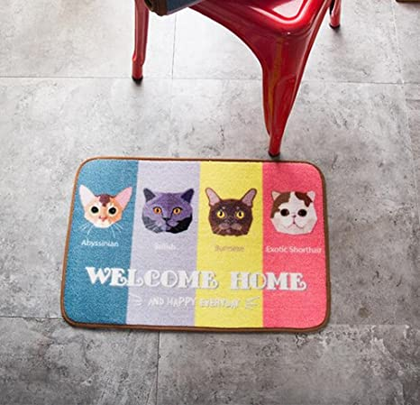 amazon com cute animals cat kitchen rug judy dre am cartoon catscute animals cat kitchen rug judy dre am cartoon cats long non slip absorbent